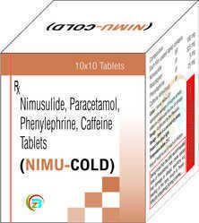 Nimusulide,Paractamol, Caffeine,Phenylephrine Tablets