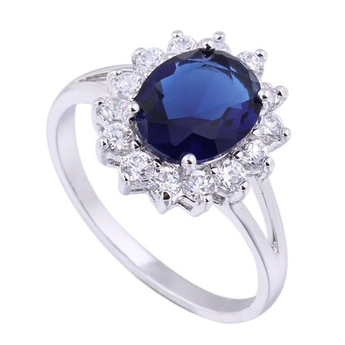 2cc6effcd1 925 Silver Ring With Blue Stone at Rs 450 /piece | Silver Gemstone ...