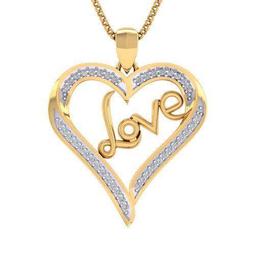 Eva gold and diamond love diamond gold pendant rs 6000 piece id eva gold and diamond love diamond gold pendant aloadofball Image collections