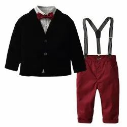 Cotton Black And Red Kids Suit, Age: 1 to 10 Year