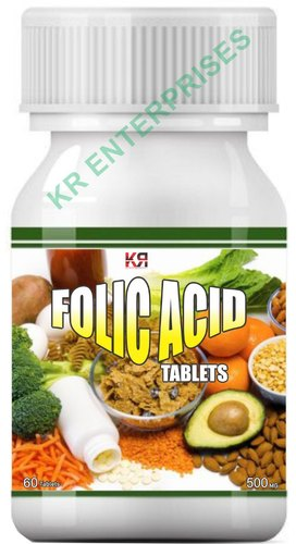 KR Enterprises Folic Acid Tablets, Packaging Size: 500 Mg, Prescription