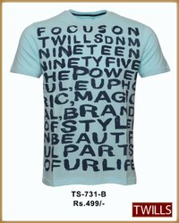 Round Neck Mens Printed T-Shirt