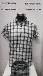 Flying colours Checked Mens Cotton Casual Shirt