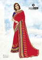 Indian Women Red Georgette Sarees