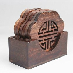 Wooden Tea Coaster Stand