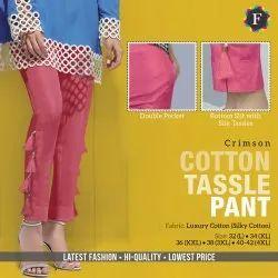 F Crimson Ladies Cotton Tassel Pant