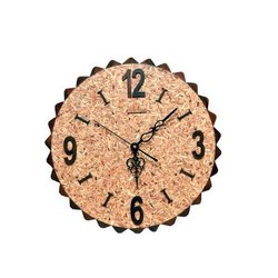 Teak Wood Analog Round Wooden Wall Clock