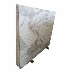 White Statuario Marble Slab, Thickness: 15-20 mm