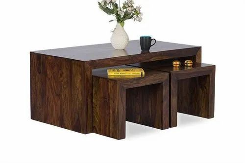 Aditya Art Natural Solid Wood Cube Coffee Table For Home Size W44 X D24 X H19 Rs 8500 Unit Id 21429508897