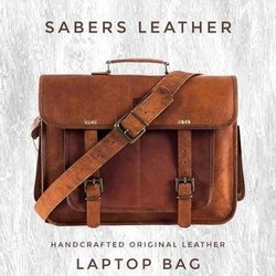 Brown Sabers Leather Handmade Laptop Leather Bag