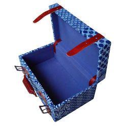 Indian Cotton Kantha Wooden Box