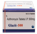 Azithromycin 250/ 500 mg (Glazit 250/ 500) Tablet
