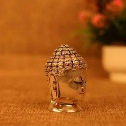 Silver Plated Buddha Head