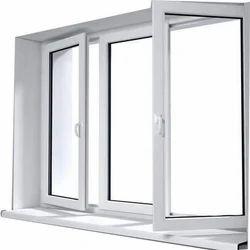 UPVC Glass Swing Window, Thickness Of Glass: Upto 8 mm