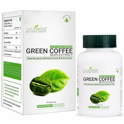 Neuherbs Green Coffee Bean Extract Capsules For Weight Management 30 Veggie At Rs 499 Box Green Coffee Bean Capsule Id 20484643888