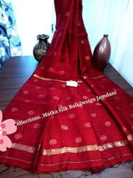Sanghamitra Sarees Party Wear Pure matka ball handloom saree, 6.5 m, hand weaved