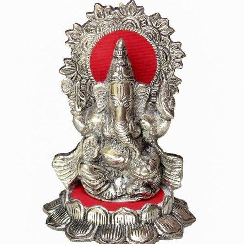 Indian Oxidized Silver White Metal Ganesha Idol At Rs 350 Piece