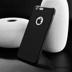 Apple Iphone 7 Black Soft Silicone Slim Back Case Cover, Packaging Type: Packet