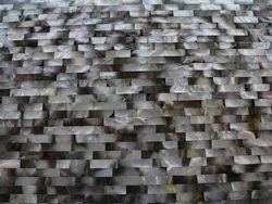 Black Brick Mop Stone Slab