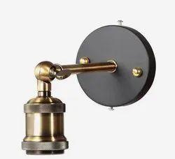 Iron and Brass Iron Brass Wall Lamp, Model: Ml-1116