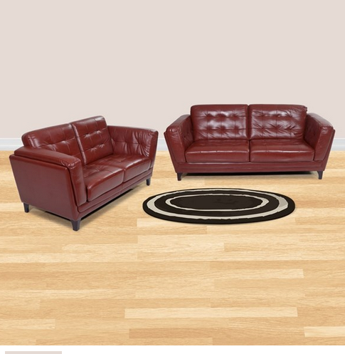 Wondrous Pretoria Leather Sofa Set 3 Plus 2 Seater Brown Pdpeps Interior Chair Design Pdpepsorg
