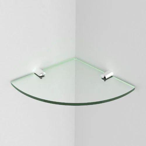 Jewel Tuf Transparent Glass Corner Shelf