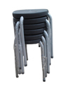 Stackable Stool -P.P Plain - Black - 10 Nos.