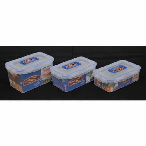 Plastic Rectangle Lock N Pack R9 for Food