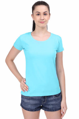 6cd7bbe7 Women Cotton Plain Round Neck T Shirt, Rs 170 /piece, Style Us ...
