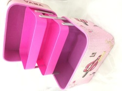 SHAMAX 2 TRAY MAKEUP COSMETIC BOX (PINK)