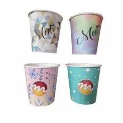 200 ml Printed Disposable Paper Cup, For Parties, Packet Size: 50 Pieces