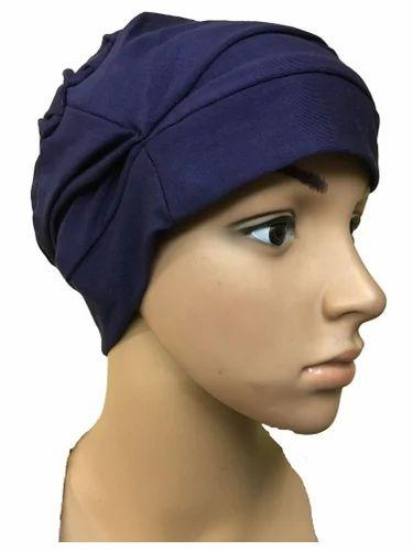 0c5f3fb8f58a7 NAVY BLUE COTTON CAPS CHEMO BEANIES CANCER CAPS WOMEN SUMMER CHEMO CAPS  SLEEP TURBAN FOR WOMEN