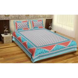 Jaipuri Printed Cotton Double Bedsheets