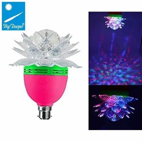 Big Deeper LED Crystal Rotating Lotus Light