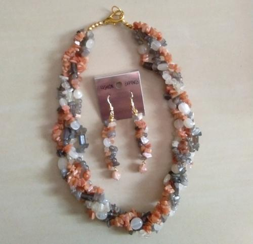 Moonstone Necklace Earring Set