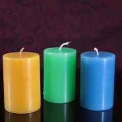 Colored Pillar Candles