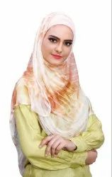 Instant Stitched 2 Loop Net Lycra Hijab Scarf For Women (To Be Worn On Hijab Cap)