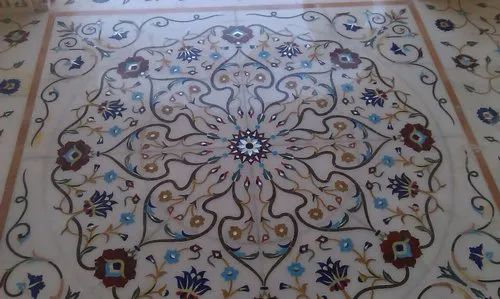 Marble Inlay Work in Residential Building