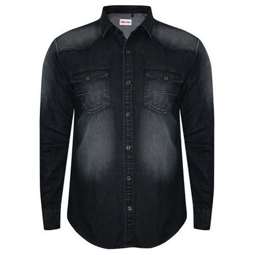 e4cbab6022 Black Shaded Mens Denim Shirt
