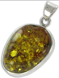 VGL Mayan Green Amber Gemstone