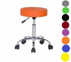 5 Wheel Stainless Steel Bar Stool, Polished