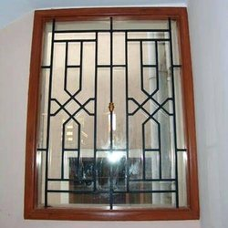 Black Stainless Steel Window Grill, For Home, Material Grade: Ss202