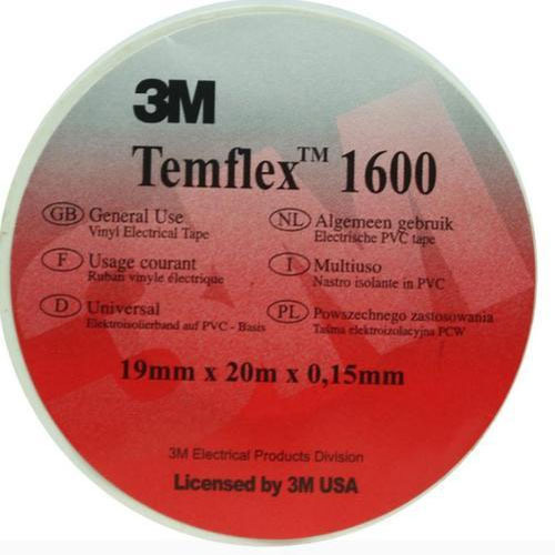 White 3M Temflex 1600 Vinyl Electrical Tape, For Wire Harness, Cable on hose tape, wheel tape, tail light tape, muffler tape, wire loom clips, washi tape,
