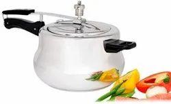 Shikha Aluminium 3.5 Liter Handi Shape Pressure Cooker For Home, Packaging Type: Box