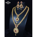 Golden Polish Haram Necklace Sets