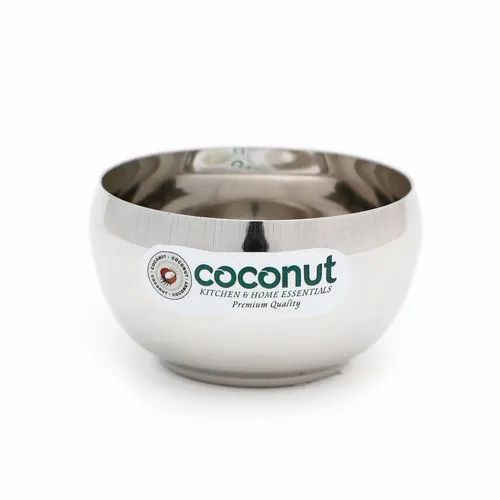 Silver Coconut Stainless Steel C3 Deluxe Apple Bowl, Packaging Type: Box
