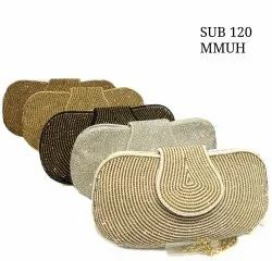 Embroidered Ladies Clutch Hand Bag SUB 120, Packaging Type: Box Pack
