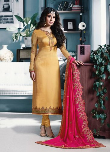 93f8f498d4 Party Wear Kritika Kamra Designer Churidar Suits With Heavy Dupatta ...