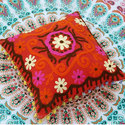Red Embroidery Cushion
