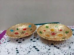 Brass Fruit Bowls, Size: 6, Shape: Round